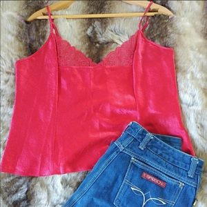 Victoria's Secret Red Lace Cropped Top ♥️